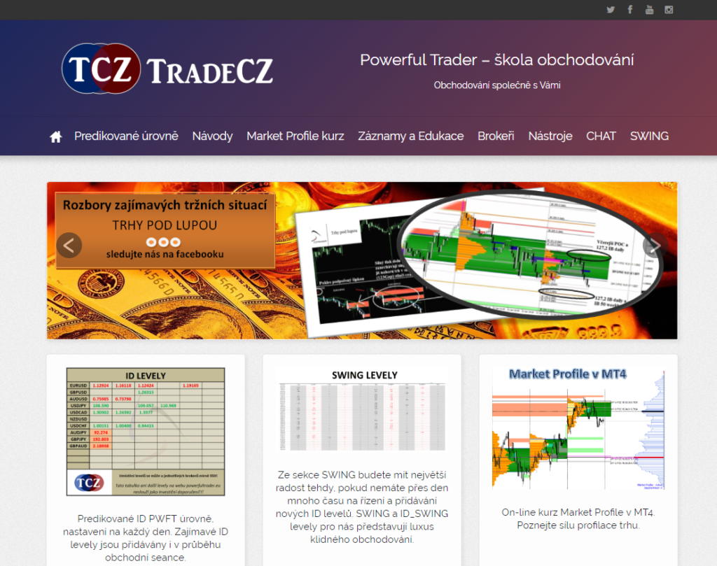 Powerful Trader klub, pracovní web