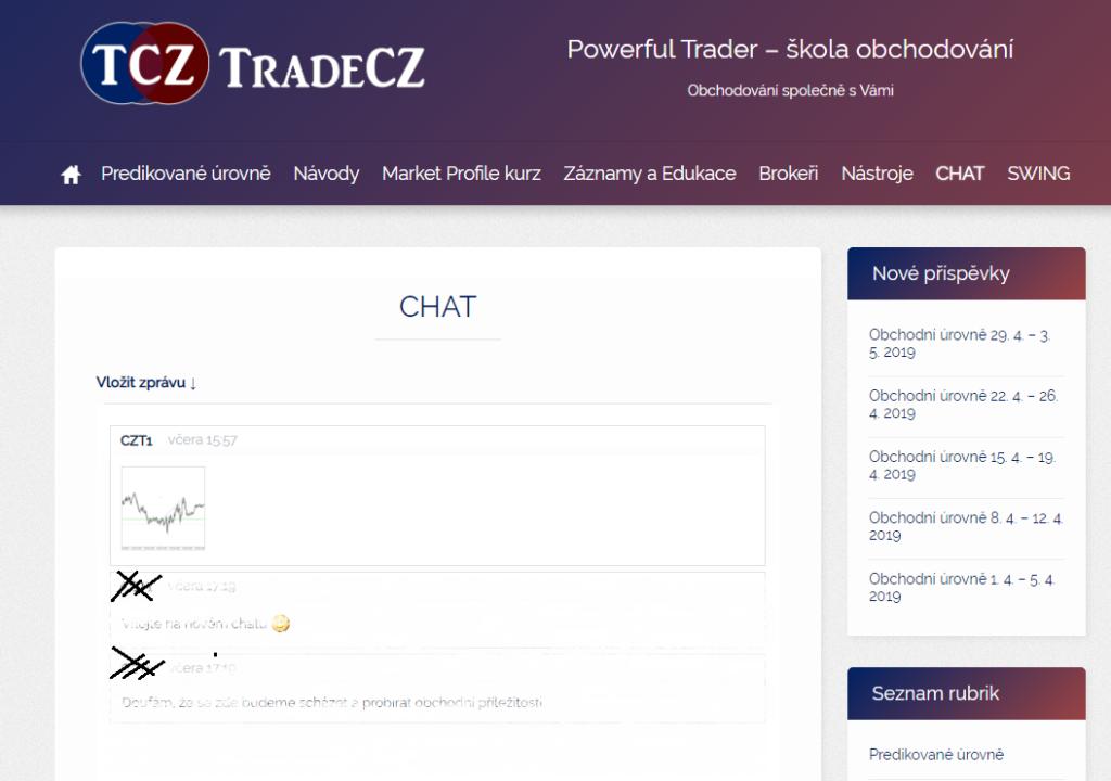 Chat room pro obchodníky