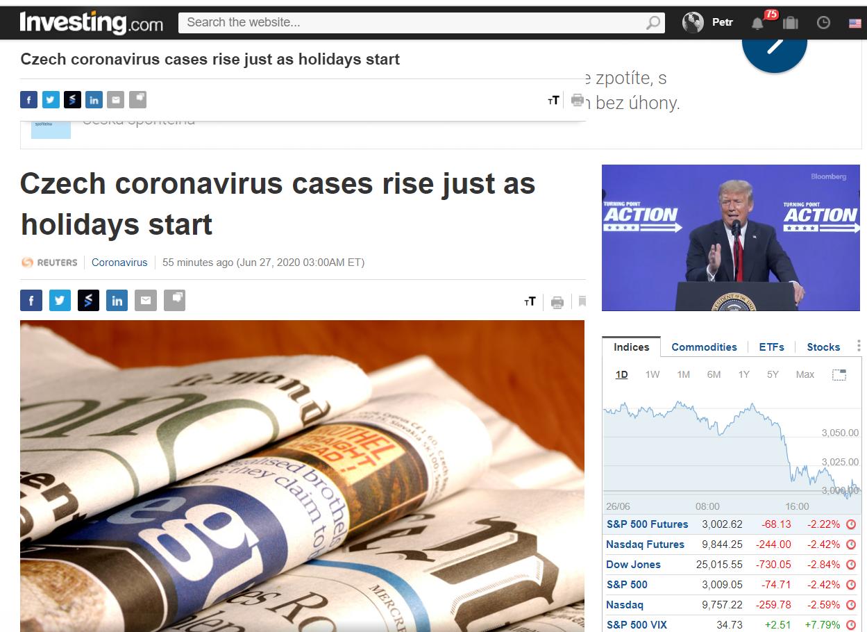 Koronavirus česko investing