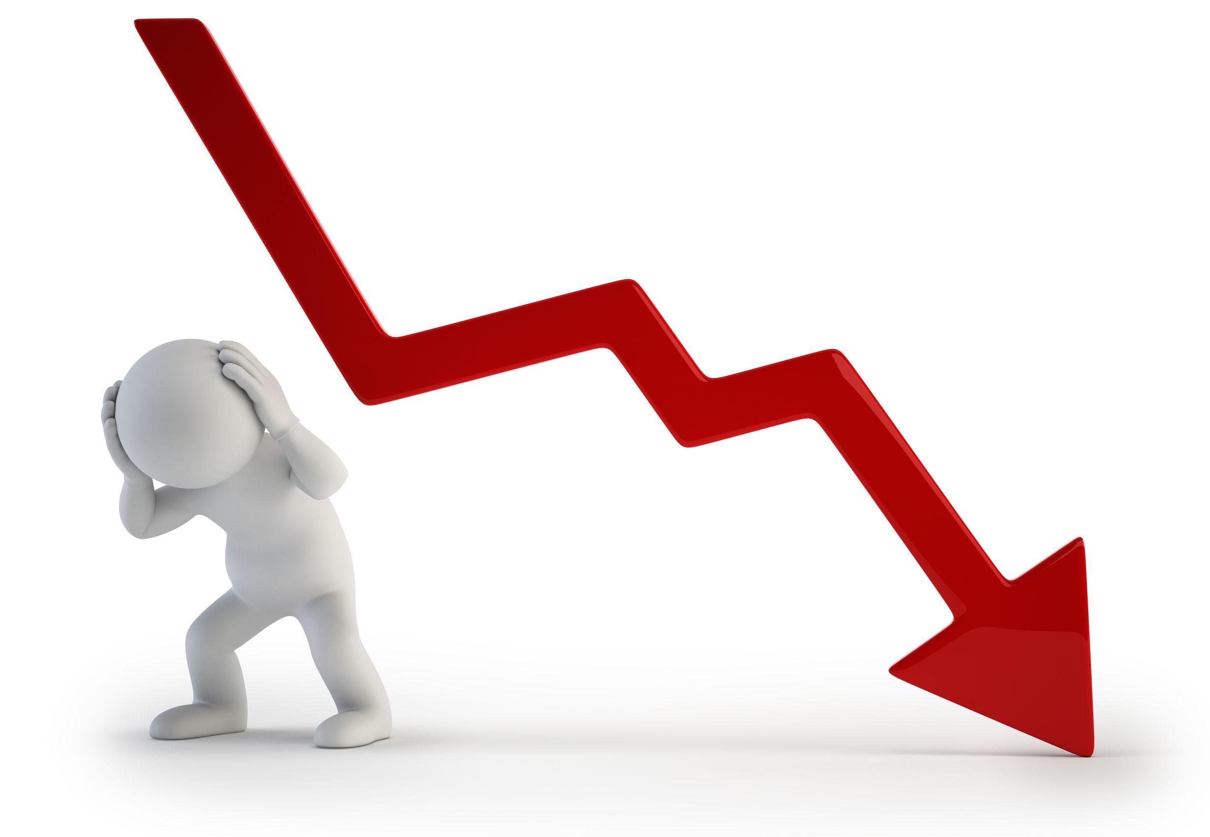 Krach burzy graf VIX