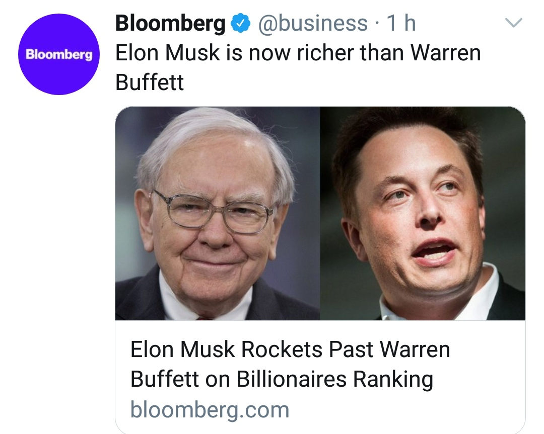 Elon Musk a Warren Buffett
