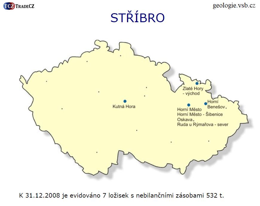 Stříbro v České republice