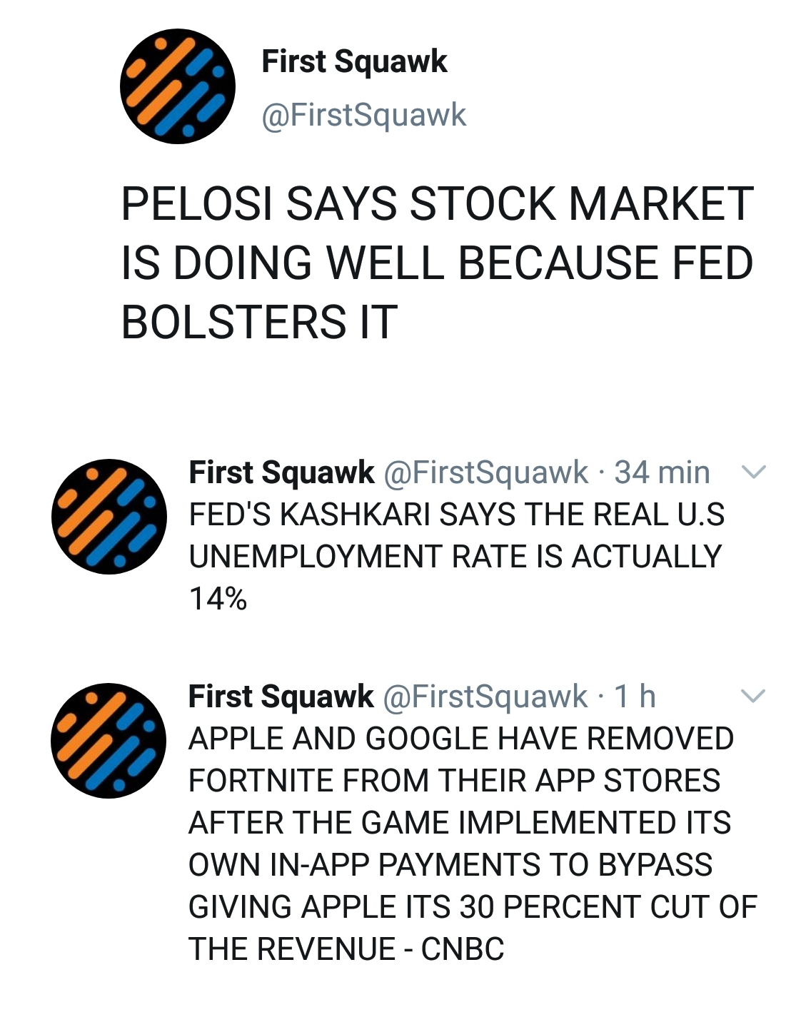 Pelosi akciová bublina