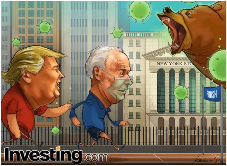 Comic z Investing Trump Biden