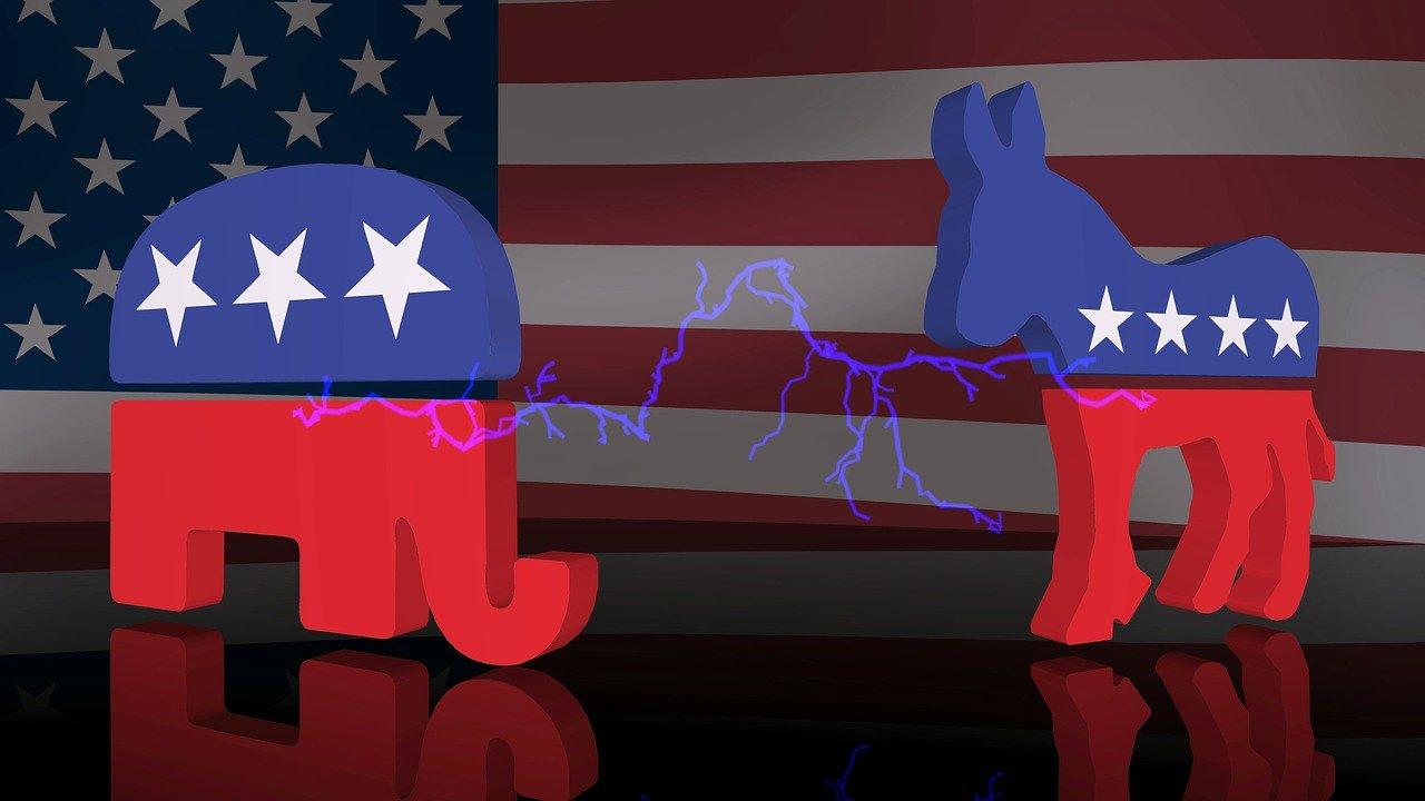Volby v USA slon a osel