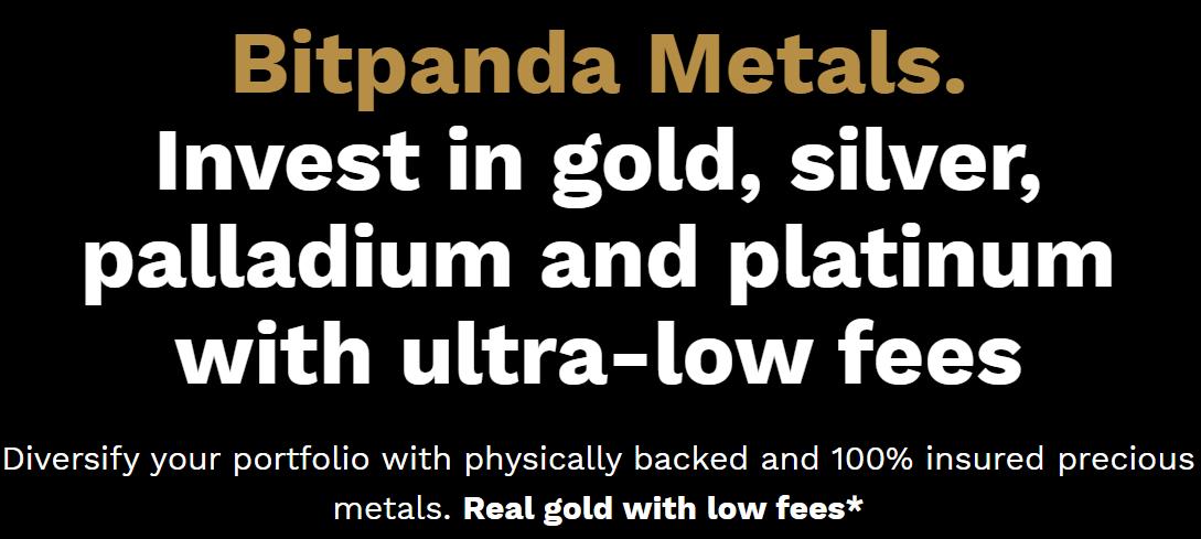 Bitpanda komodity investice