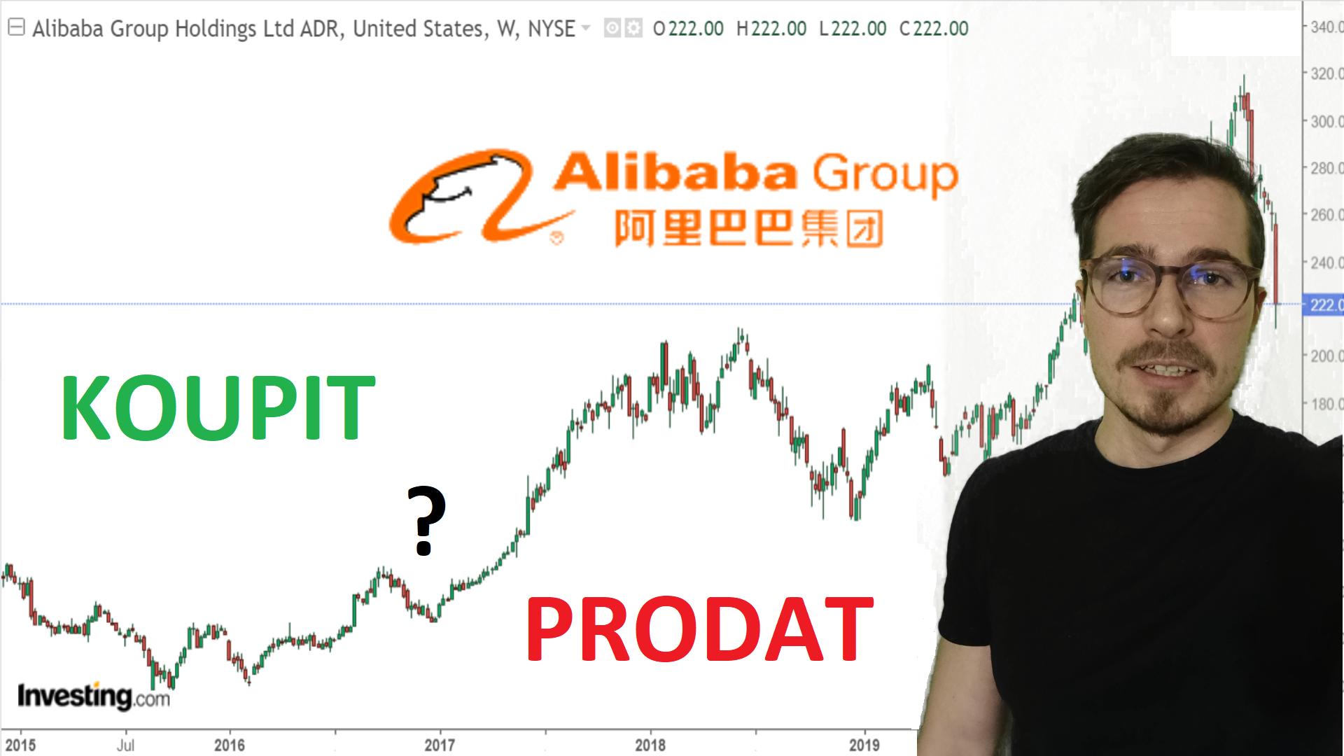 Analýza společnosti Alibaba Group BABA akcie
