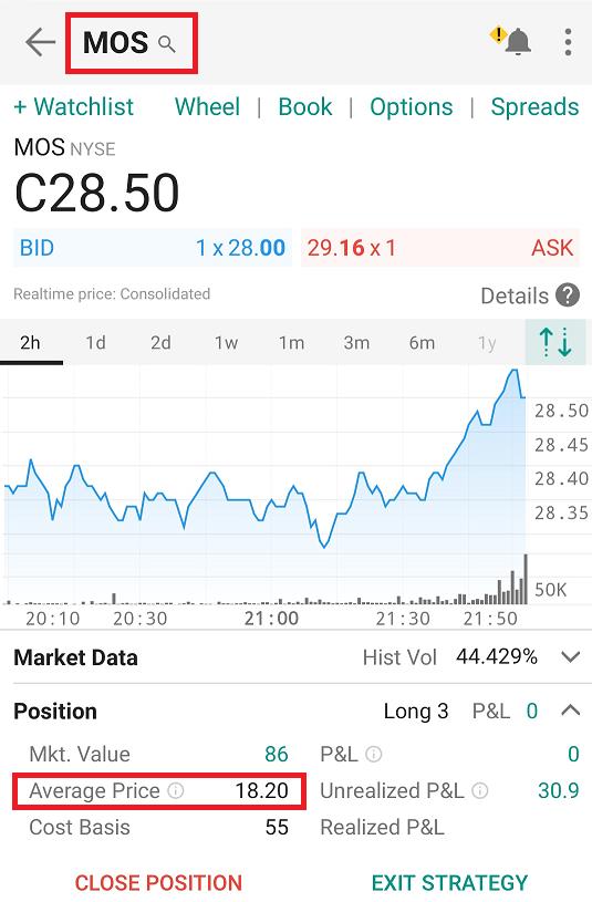 Nákup akcií MOS