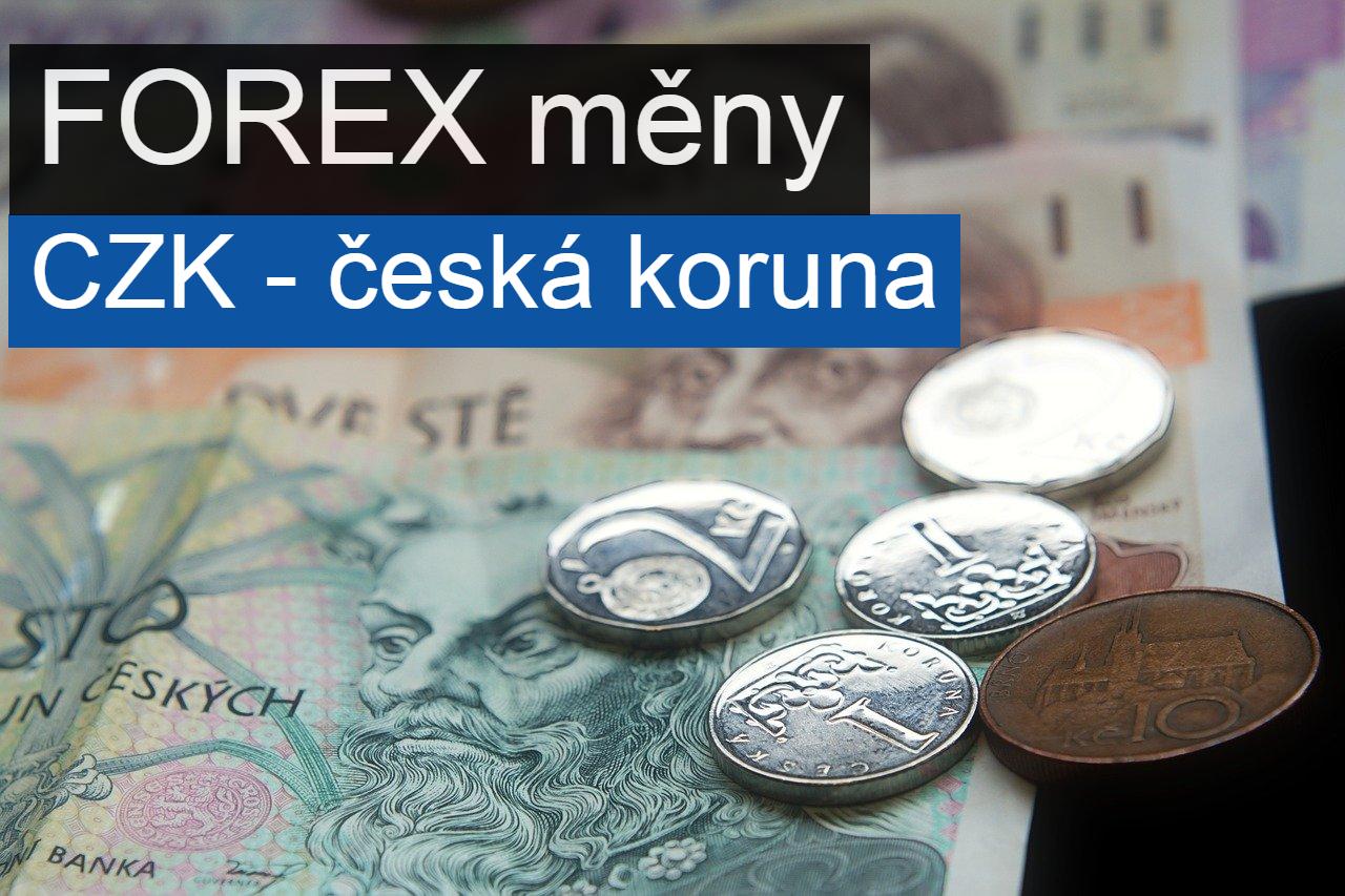Forex měna česká koruna