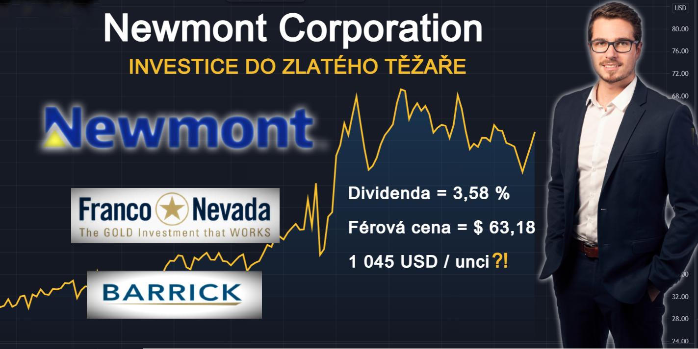 srovnání Newmont Corporation, Barrick Gold, Franco-Nevada