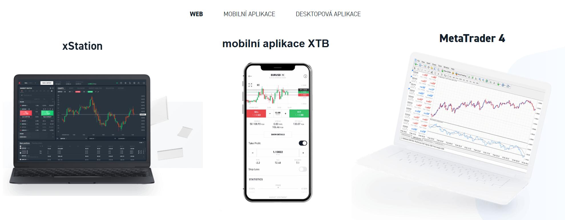 XTB obchodní platformy recenze