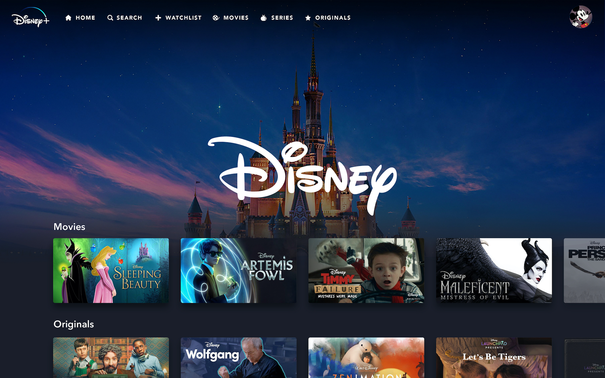 Disney + streaming