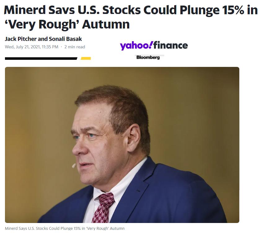 Akciové bublina Minerd