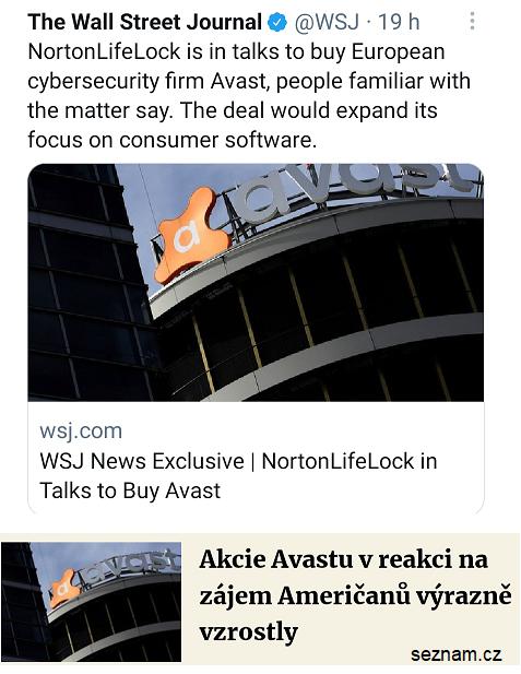 Prodej společnosti Avast