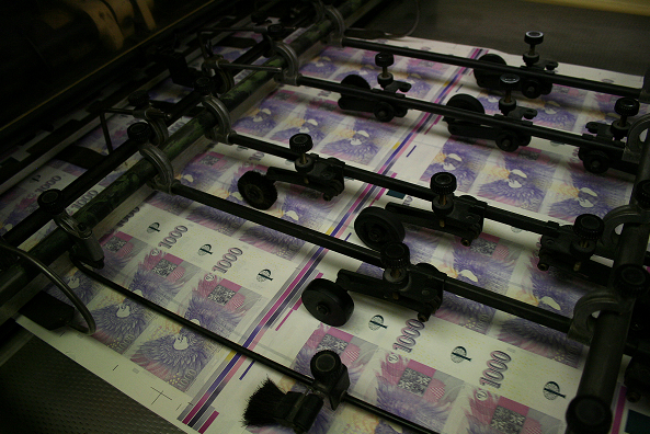 tisk peněz ČNB a inflace