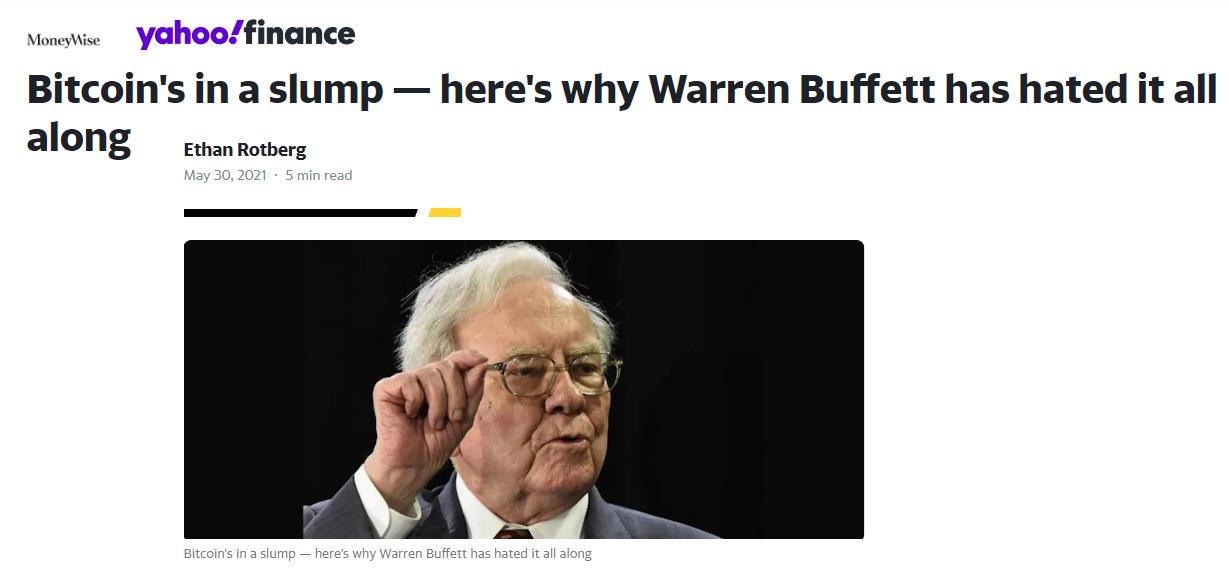Buffett a kryptoměny