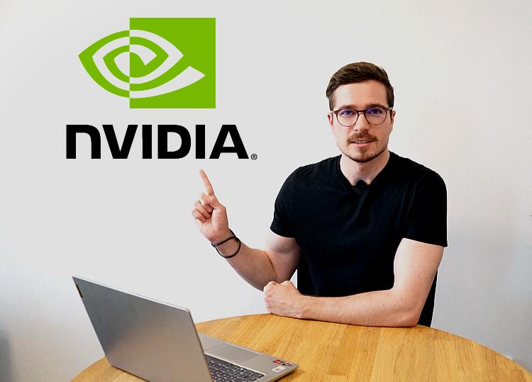 Nvidia logo akcie