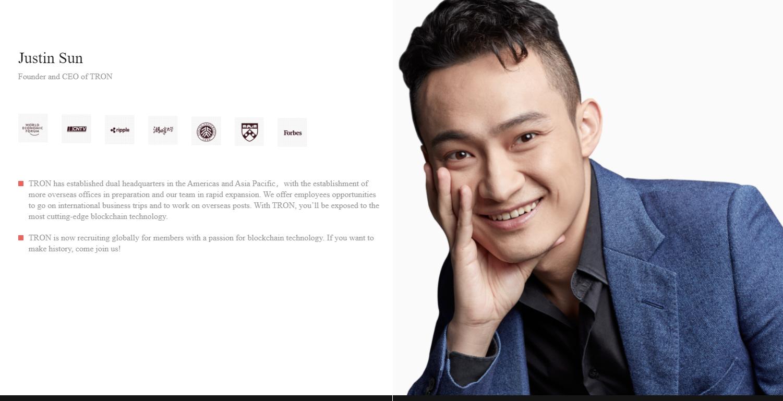 Justin Sun, CEO TRON