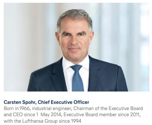 CEO Lufthansa